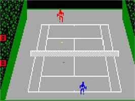 In game image of Championship Tennis on the Mattel Intellivision.