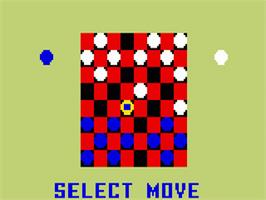 In game image of Checkers on the Mattel Intellivision.