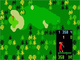 In game image of Chip Shot: Super Pro Golf on the Mattel Intellivision.