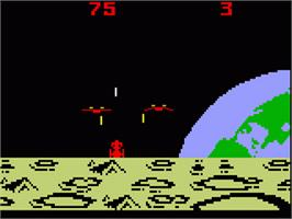 In game image of Demon Attack on the Mattel Intellivision.