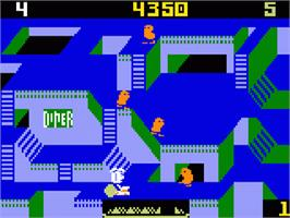 In game image of Diner on the Mattel Intellivision.