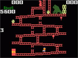 In game image of Donkey Kong on the Mattel Intellivision.