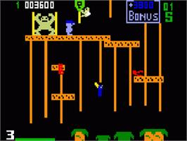 In game image of Donkey Kong Junior on the Mattel Intellivision.