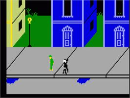 In game image of Dracula on the Mattel Intellivision.