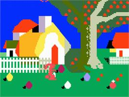 In game image of Easter Eggcitement on the Mattel Intellivision.