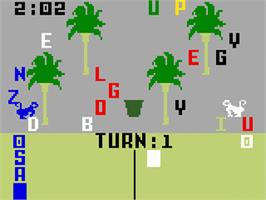 In game image of Electric Company: Word Fun on the Mattel Intellivision.