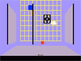In game image of Grid Shock on the Mattel Intellivision.
