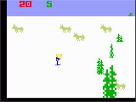 In game image of Ice Trek on the Mattel Intellivision.