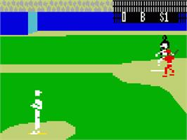In game image of Intellivision World Series Major League Baseball on the Mattel Intellivision.
