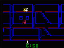 In game image of Kool-Aid Man on the Mattel Intellivision.