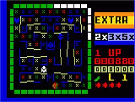 In game image of Lady Bug on the Mattel Intellivision.