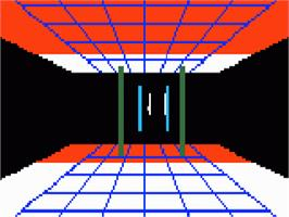 In game image of League of Light on the Mattel Intellivision.