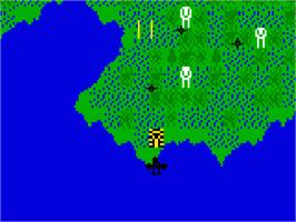 In game image of Mission-X on the Mattel Intellivision.