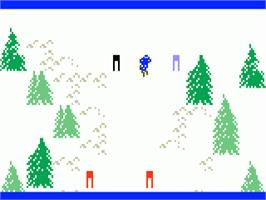 In game image of Mountain Madness: Super Pro Skiing on the Mattel Intellivision.
