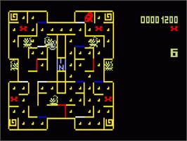 In game image of Mouse Trap on the Mattel Intellivision.