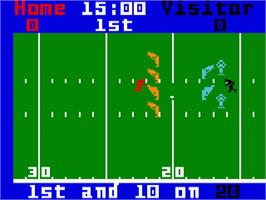 In game image of NFL Football on the Mattel Intellivision.