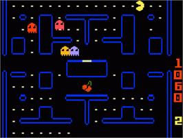 In game image of Pac-Man on the Mattel Intellivision.