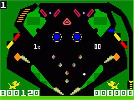 In game image of Pinball on the Mattel Intellivision.