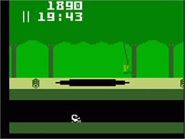 In game image of Pitfall on the Mattel Intellivision.