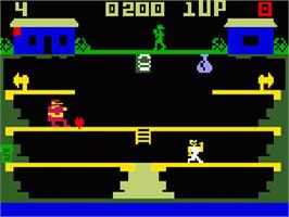 In game image of Popeye on the Mattel Intellivision.