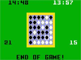 In game image of Reversi on the Mattel Intellivision.