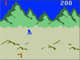 In game image of Robot Rubble on the Mattel Intellivision.