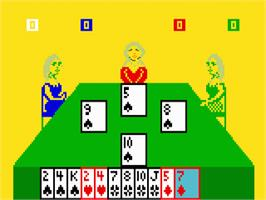 In game image of Royal Dealer on the Mattel Intellivision.