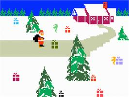 In game image of Santa's Helper on the Mattel Intellivision.