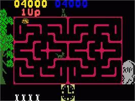 In game image of Scooby Doo's Maze Chase on the Mattel Intellivision.