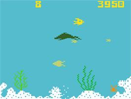In game image of Shark! Shark on the Mattel Intellivision.