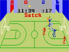 In game image of Slam Dunk: Super Pro Basketball on the Mattel Intellivision.