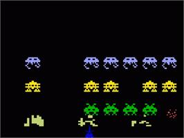 In game image of Space Armada on the Mattel Intellivision.