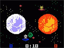 In game image of Space Cadet on the Mattel Intellivision.