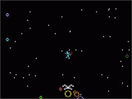 In game image of Space Hawk on the Mattel Intellivision.
