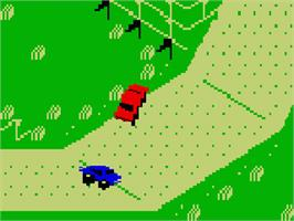 In game image of Stadium Mud Buggies on the Mattel Intellivision.