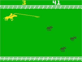 In game image of Stampede on the Mattel Intellivision.