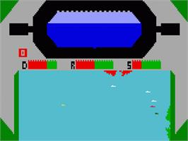 In game image of Sub Hunt on the Mattel Intellivision.