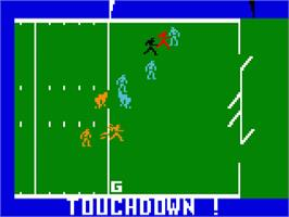 In game image of Super Pro Football on the Mattel Intellivision.
