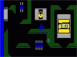 In game image of TRON: Maze-A-Tron on the Mattel Intellivision.