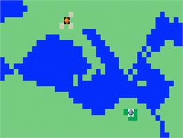 In game image of Takeover on the Mattel Intellivision.
