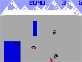 In game image of Thin Ice on the Mattel Intellivision.