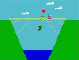 In game image of Tropical Trouble on the Mattel Intellivision.