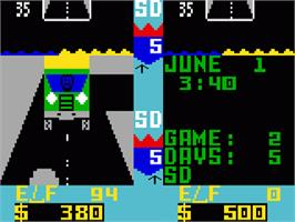 In game image of Truckin' on the Mattel Intellivision.