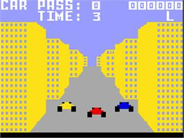 In game image of Turbo on the Mattel Intellivision.