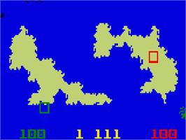In game image of Utopia on the Mattel Intellivision.