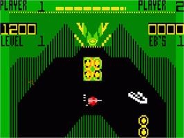 In game image of Vectron on the Mattel Intellivision.