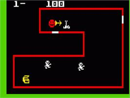 In game image of Venture on the Mattel Intellivision.
