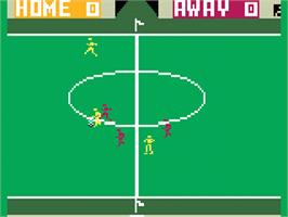 In game image of World Cup Soccer on the Mattel Intellivision.