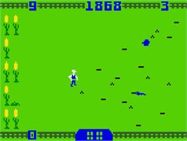 In game image of Worm Whomper on the Mattel Intellivision.