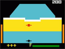 In game image of Zaxxon on the Mattel Intellivision.